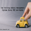 Car Driving School Management System Using PHP and MySQL-project