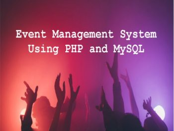 Event-Management-System-project-Using-PHP-and-MySQL