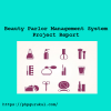 Beauty Parlor Management System Project Report